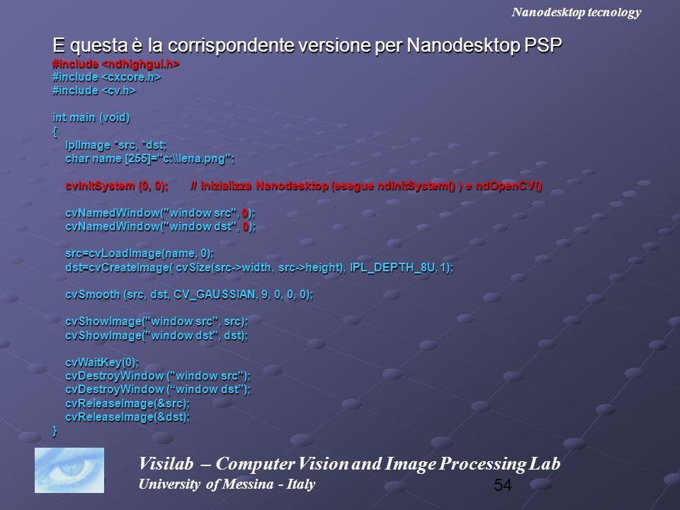 E questa è la corrispondente versione per Nanodesktop PSP