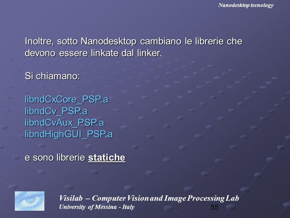 Inoltre, sotto Nanodesktop cambiano le librerie che
