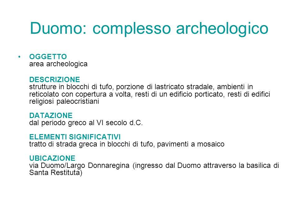 Duomo: complesso archeologico