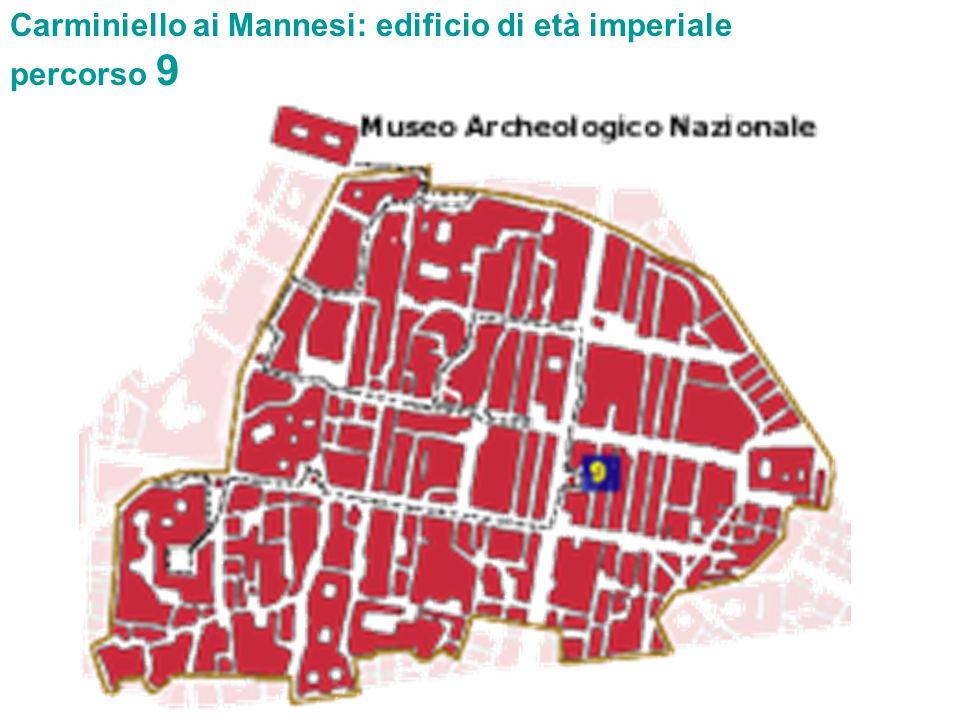 Carminiello ai Mannesi: edificio di età imperiale percorso 9