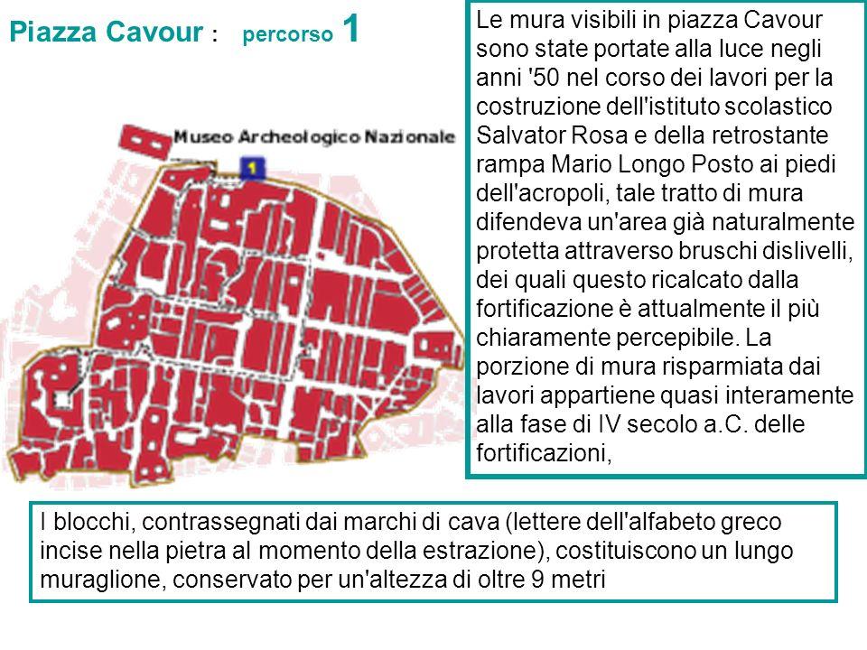 Piazza Cavour : percorso 1
