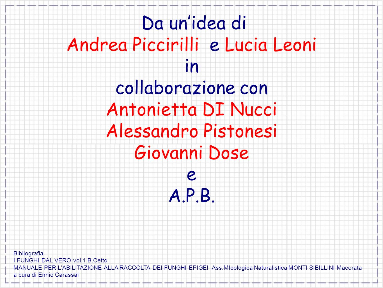 Andrea Piccirilli e Lucia Leoni