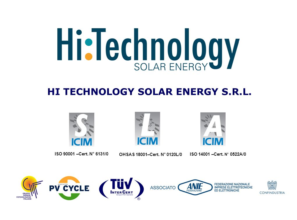 HI TECHNOLOGY SOLAR ENERGY S.R.L.