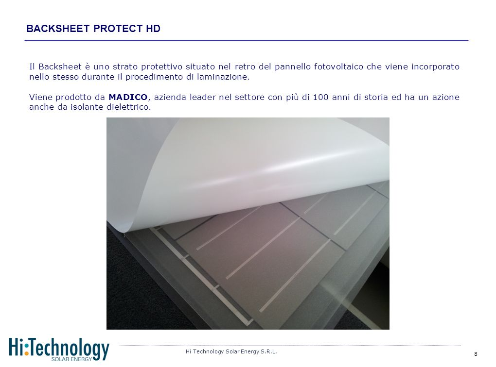 BACKSHEET PROTECT HD