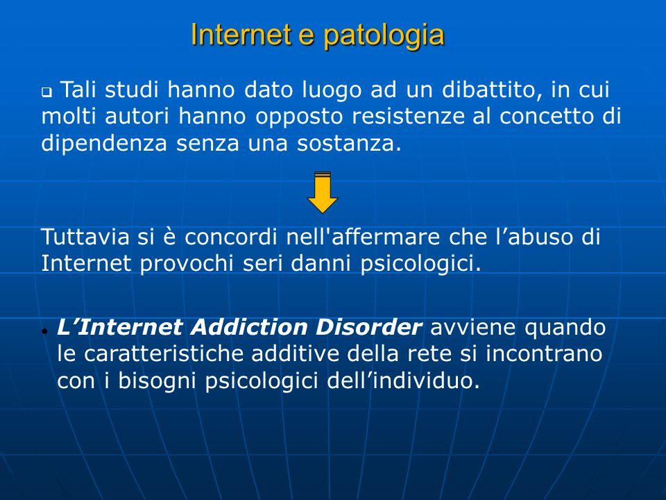 Internet e patologia