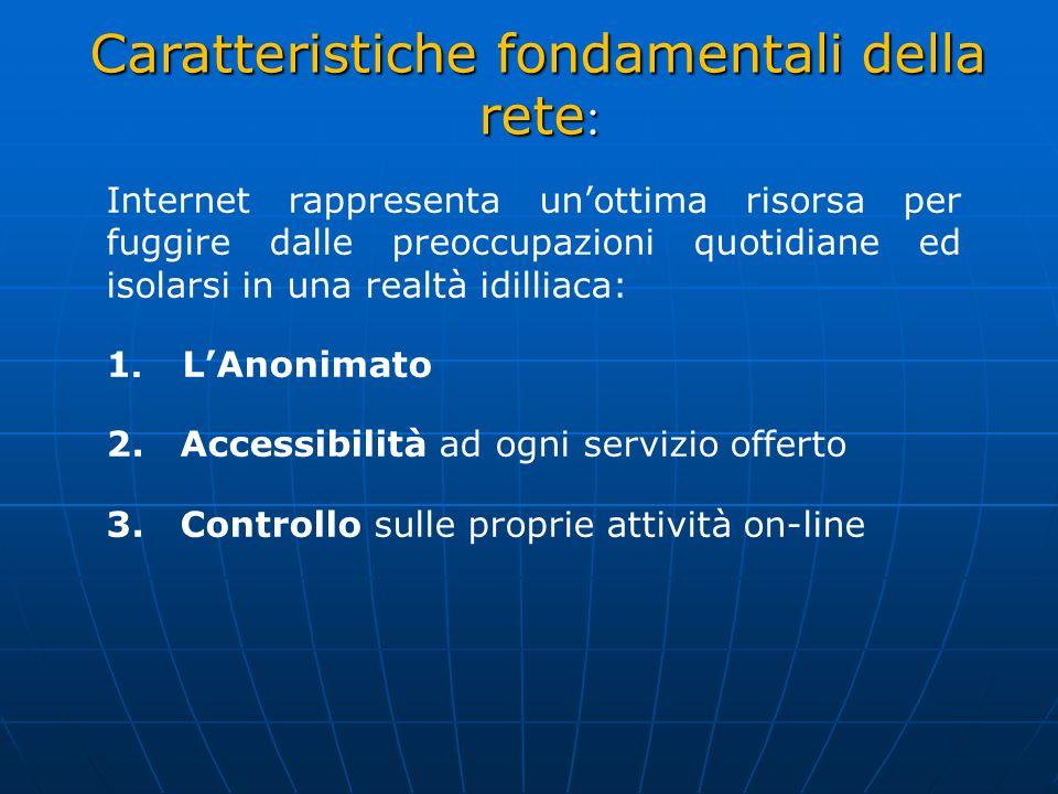 Caratteristiche fondamentali della rete: