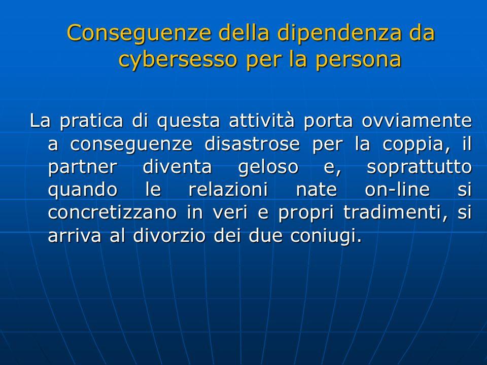 Conseguenze della dipendenza da cybersesso per la persona