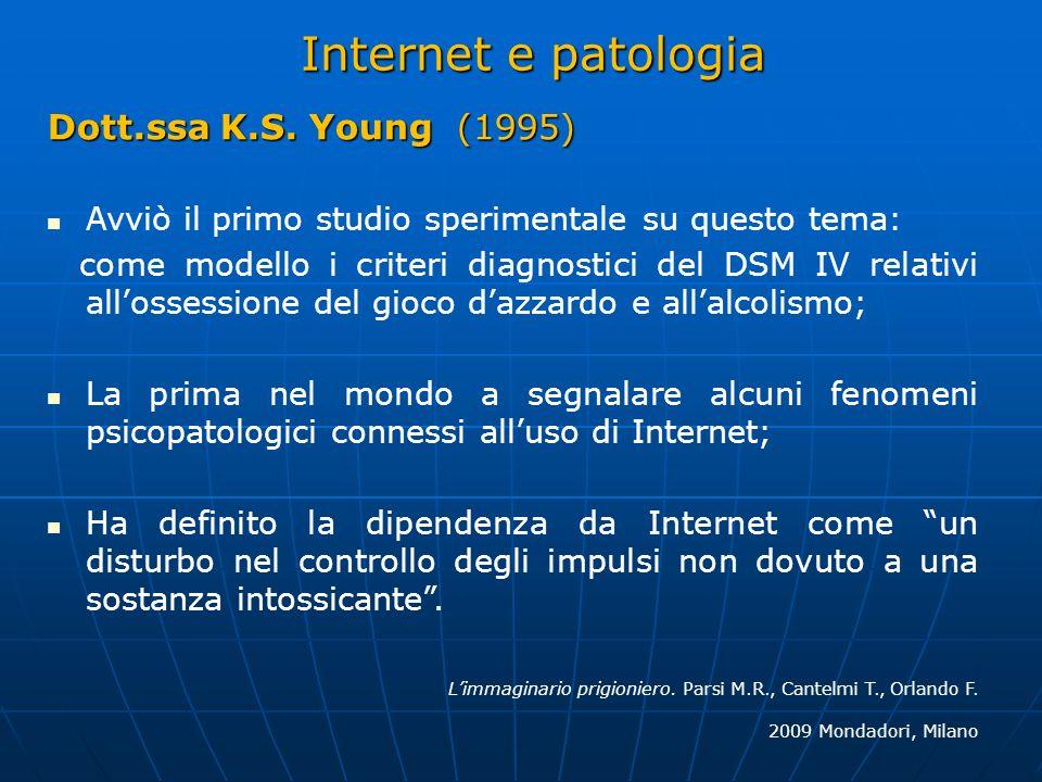 Internet e patologia Dott.ssa K.S. Young (1995)