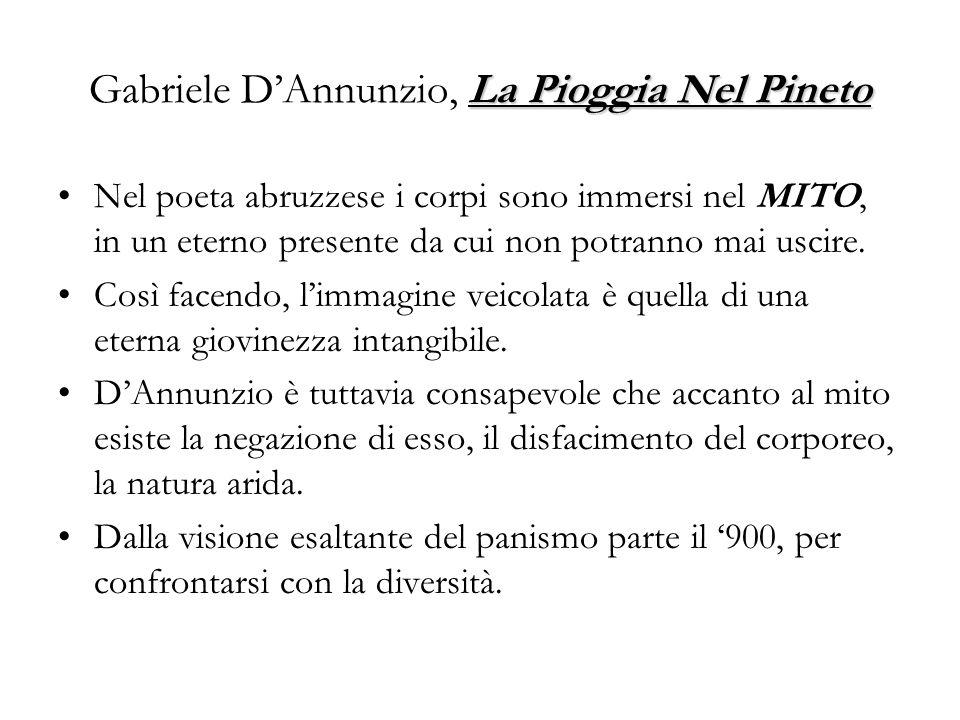 Gabriele D'Annunzio, La Pioggia Nel Pineto