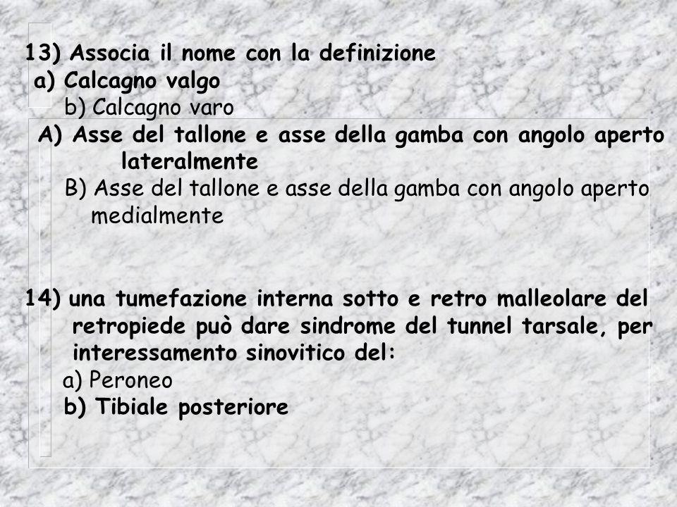 13) Associa il nome con la definizione