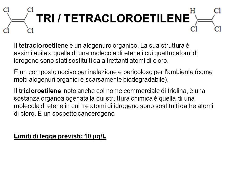 TRI / TETRACLOROETILENE
