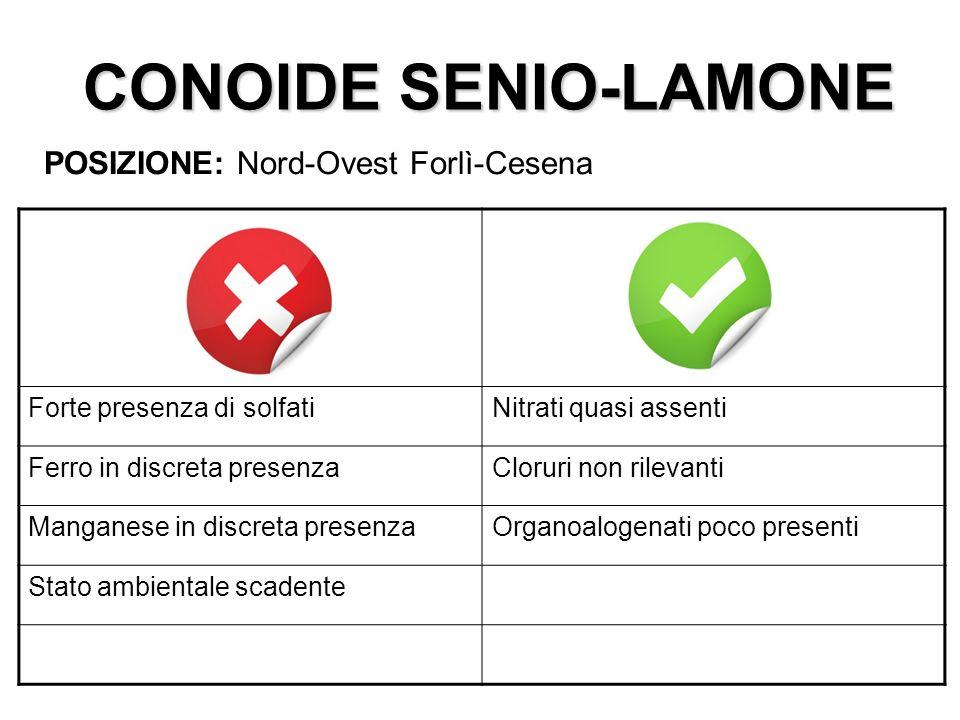 CONOIDE SENIO-LAMONE POSIZIONE: Nord-Ovest Forlì-Cesena