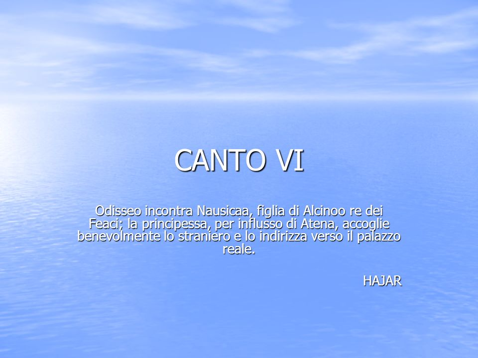 CANTO VI