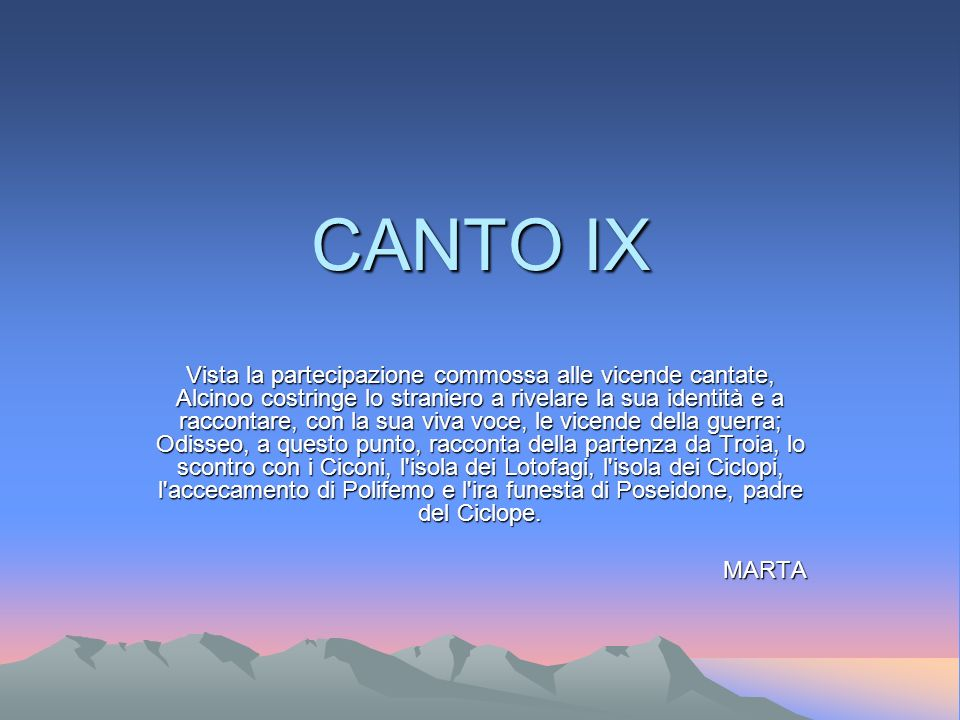 CANTO IX