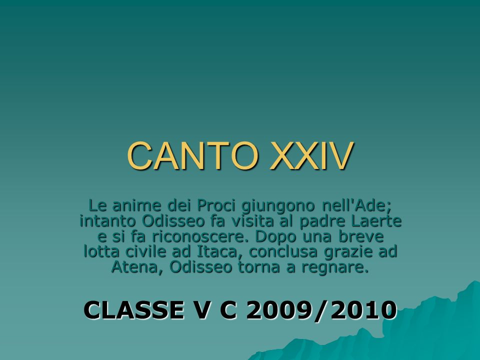 CANTO XXIV