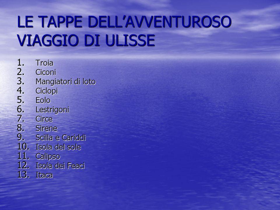 LE TAPPE DELL'AVVENTUROSO VIAGGIO DI ULISSE