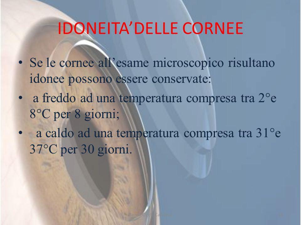 IDONEITA'DELLE CORNEE