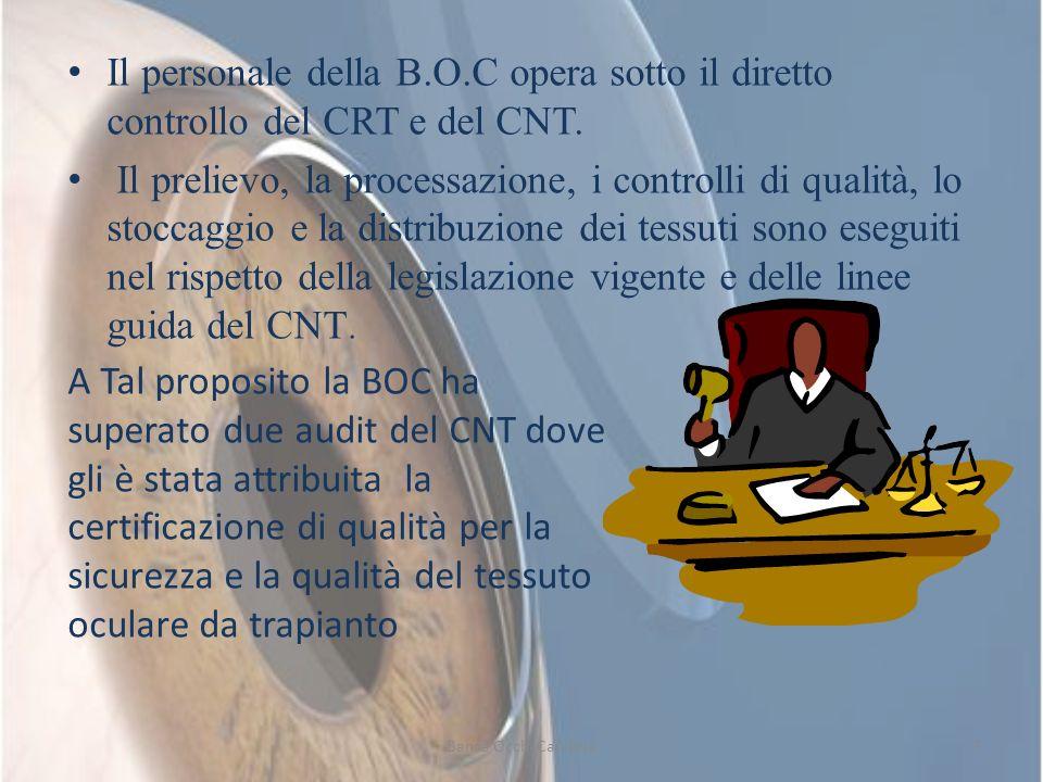 Il personale della B.O.C opera sotto il diretto controllo del CRT e del CNT.