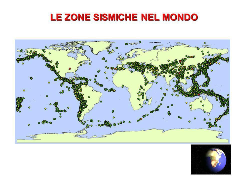 LE ZONE SISMICHE NEL MONDO