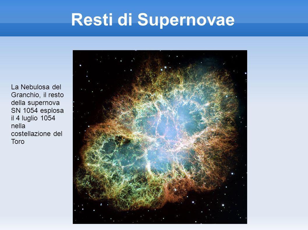 Resti di Supernovae La Nebulosa del Granchio, il resto della supernova SN 1054 esplosa il 4 luglio 1054 nella costellazione del Toro.