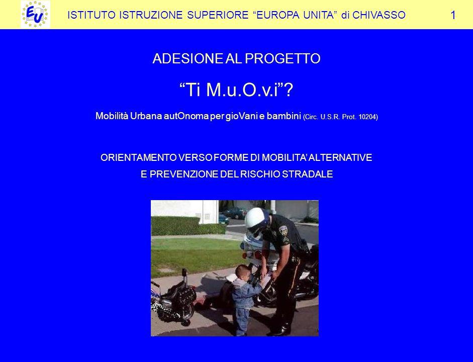 Ti M.u.O.v.i ADESIONE AL PROGETTO 1