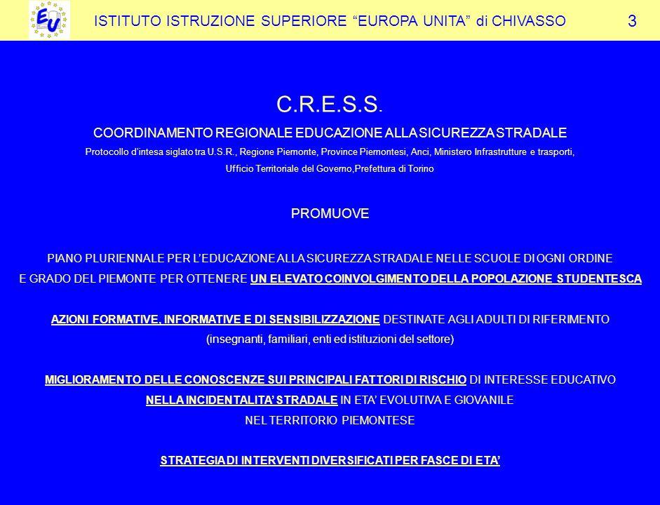 STRATEGIA DI INTERVENTI DIVERSIFICATI PER FASCE DI ETA'