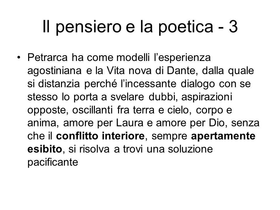 Il pensiero e la poetica - 3