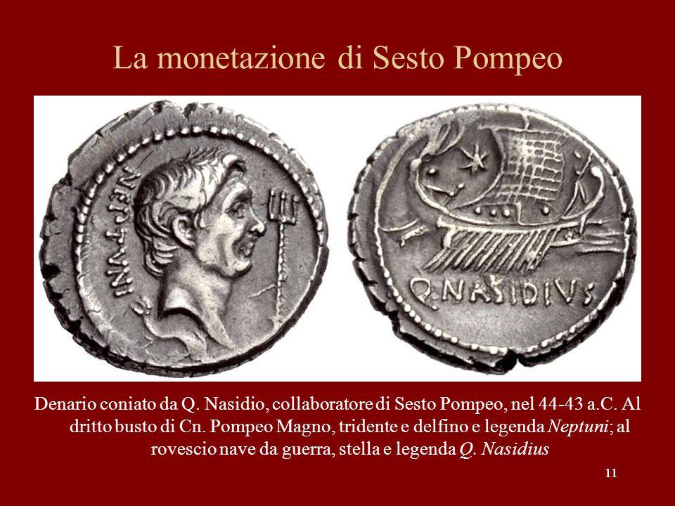 La monetazione di Sesto Pompeo