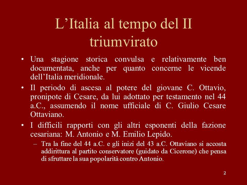 L'Italia al tempo del II triumvirato