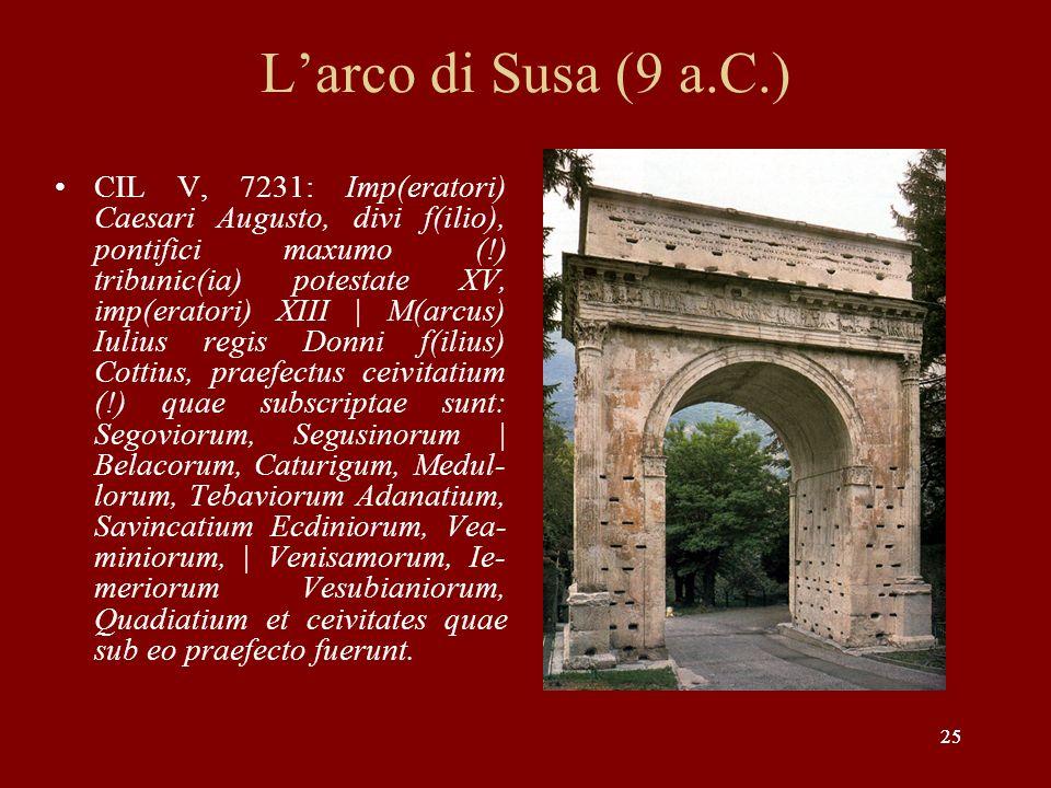 L'arco di Susa (9 a.C.)