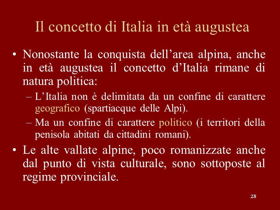 Il concetto di Italia in età augustea