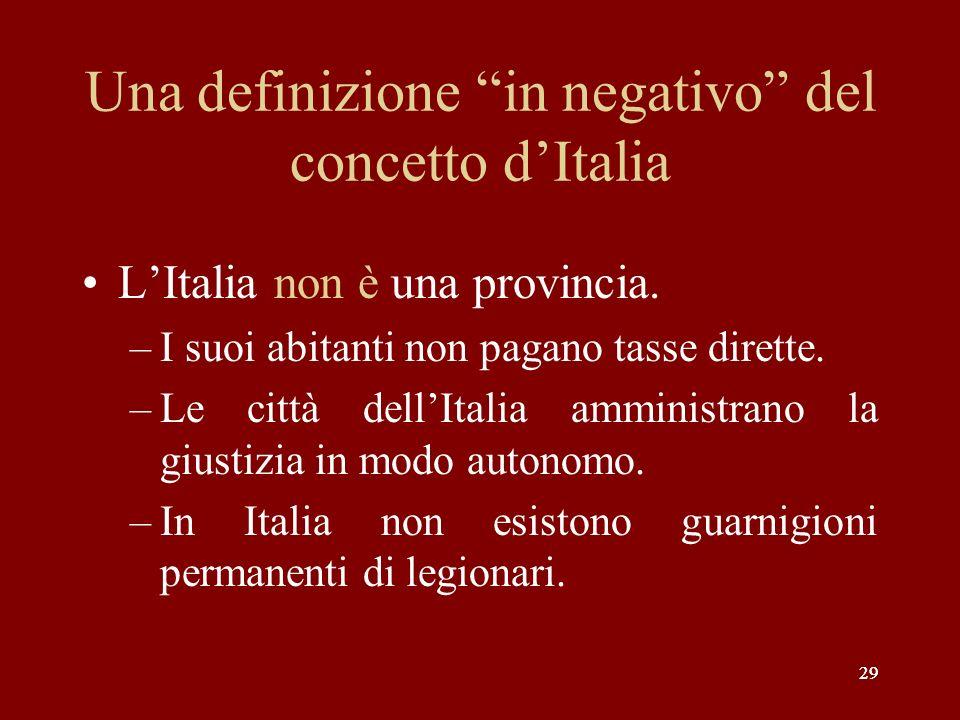 Una definizione in negativo del concetto d'Italia