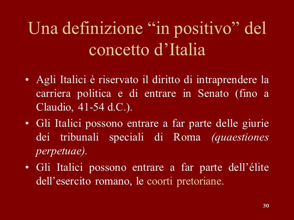 Una definizione in positivo del concetto d'Italia