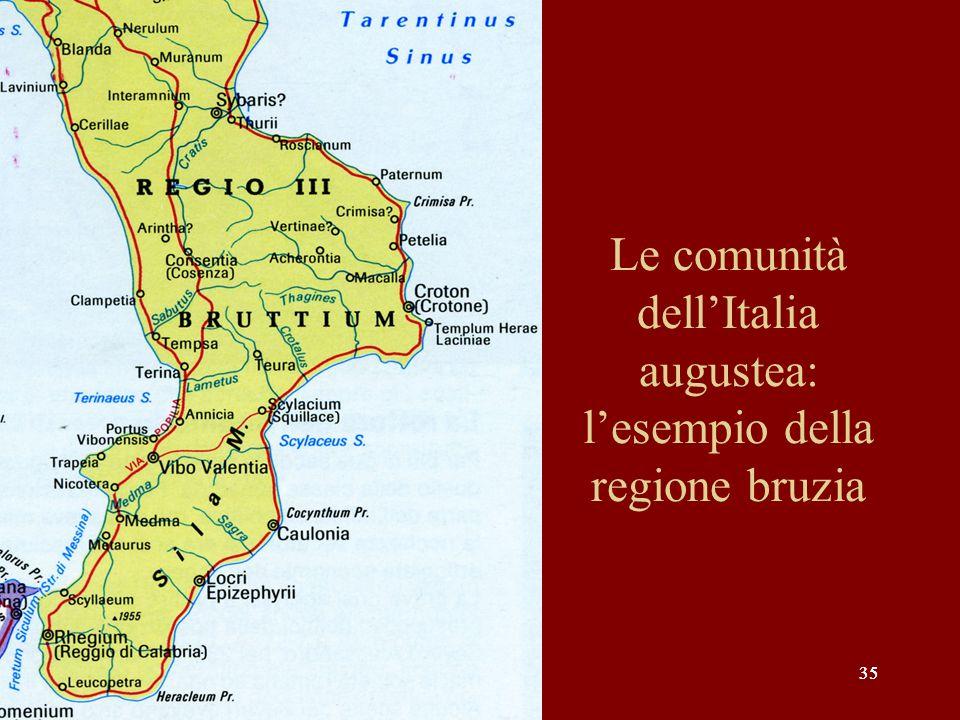 Le comunità dell'Italia augustea: l'esempio della regione bruzia