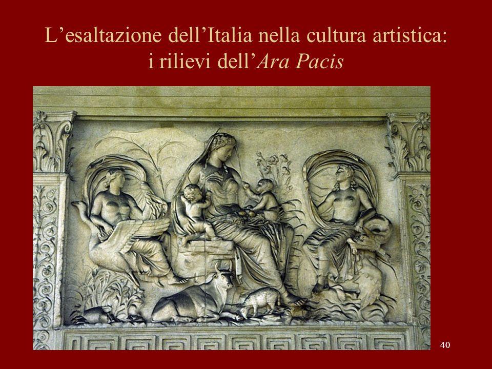 L'esaltazione dell'Italia nella cultura artistica: i rilievi dell'Ara Pacis