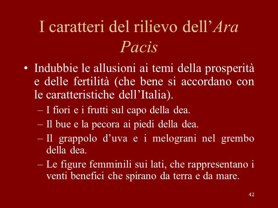 I caratteri del rilievo dell'Ara Pacis