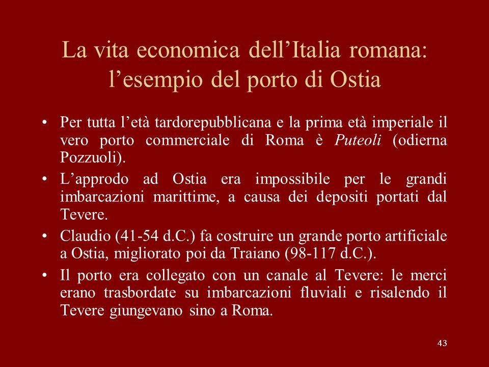 La vita economica dell'Italia romana: l'esempio del porto di Ostia