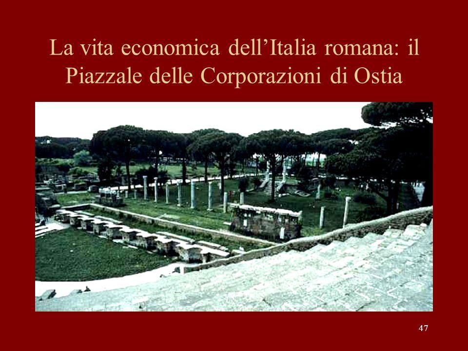 La vita economica dell'Italia romana: il Piazzale delle Corporazioni di Ostia