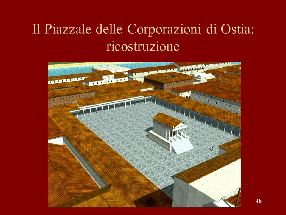 Il Piazzale delle Corporazioni di Ostia: ricostruzione
