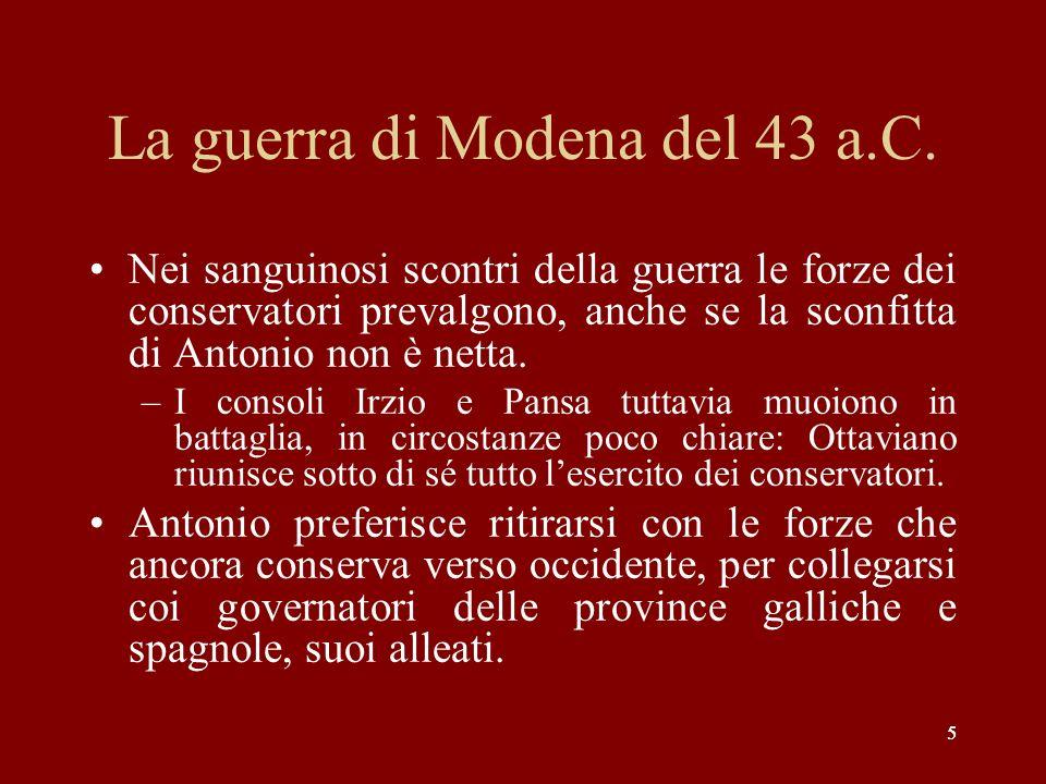 La guerra di Modena del 43 a.C.