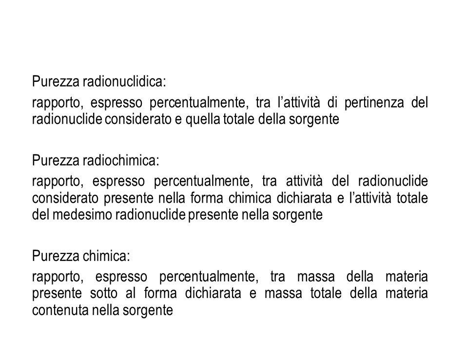 Purezza radionuclidica:
