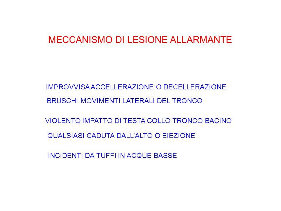 MECCANISMO DI LESIONE ALLARMANTE