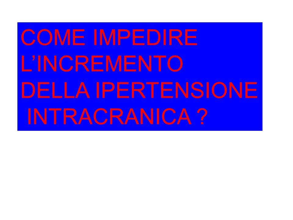 COME IMPEDIRE L'INCREMENTO DELLA IPERTENSIONE INTRACRANICA