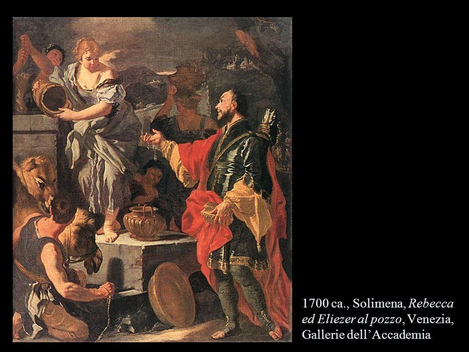 1700 ca., Solimena, Rebecca ed Eliezer al pozzo, Venezia, Gallerie dell'Accademia