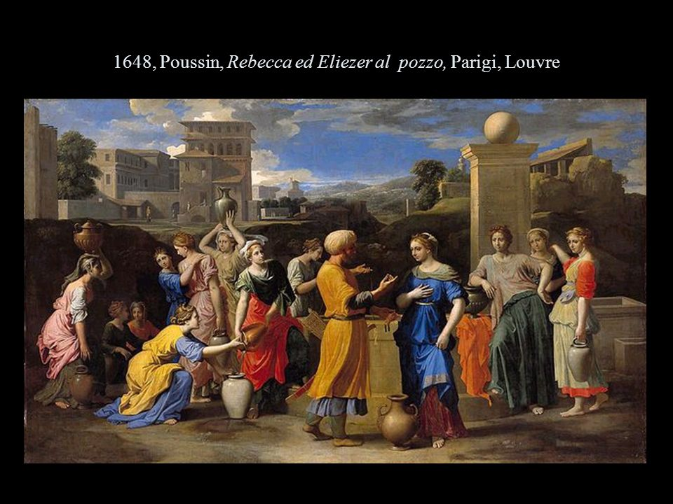 1648, Poussin, Rebecca ed Eliezer al pozzo, Parigi, Louvre