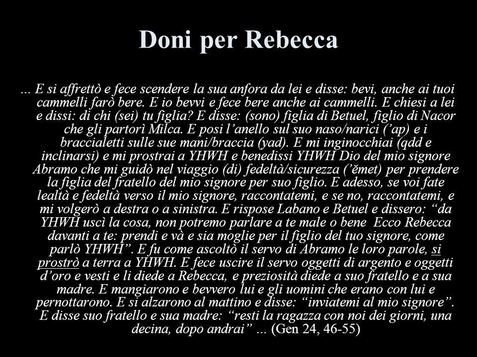 Doni per Rebecca