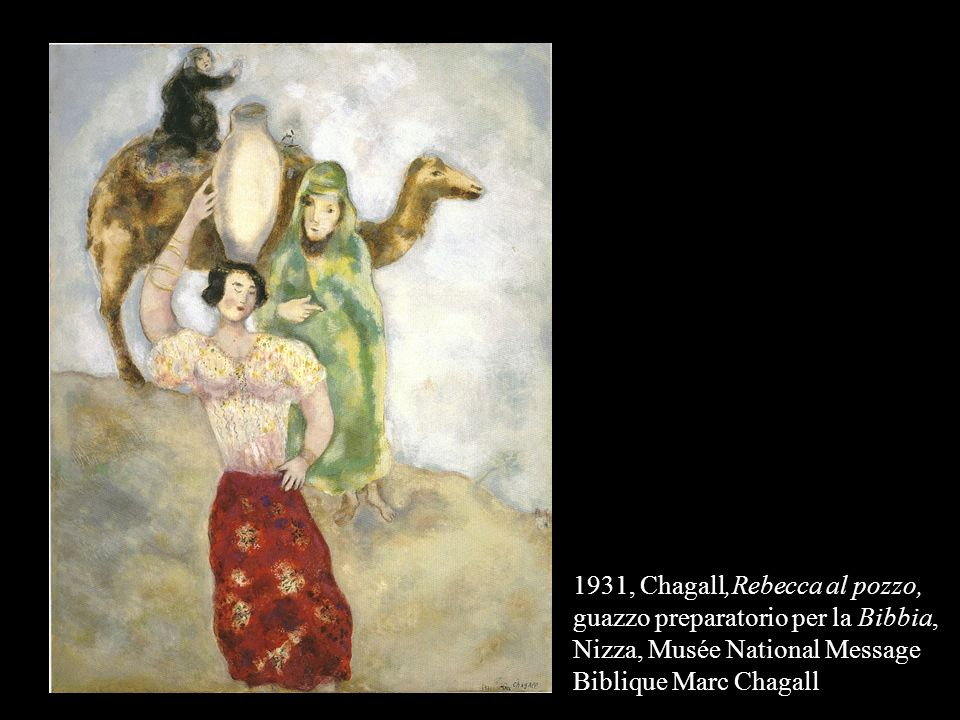1931, Chagall,Rebecca al pozzo, guazzo preparatorio per la Bibbia, Nizza, Musée National Message Biblique Marc Chagall