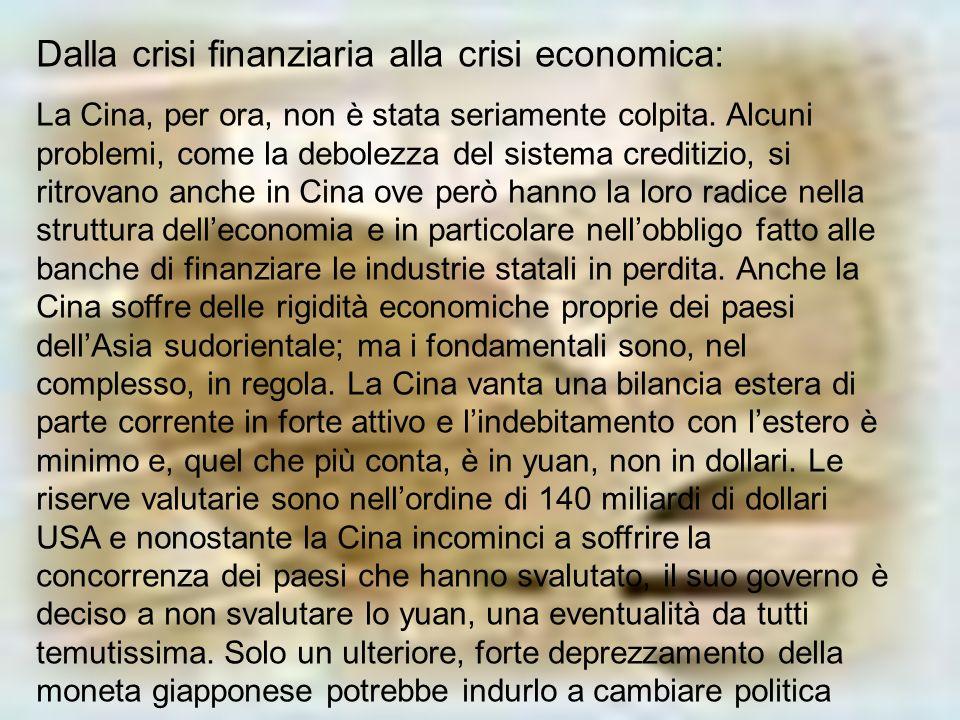Dalla crisi finanziaria alla crisi economica: