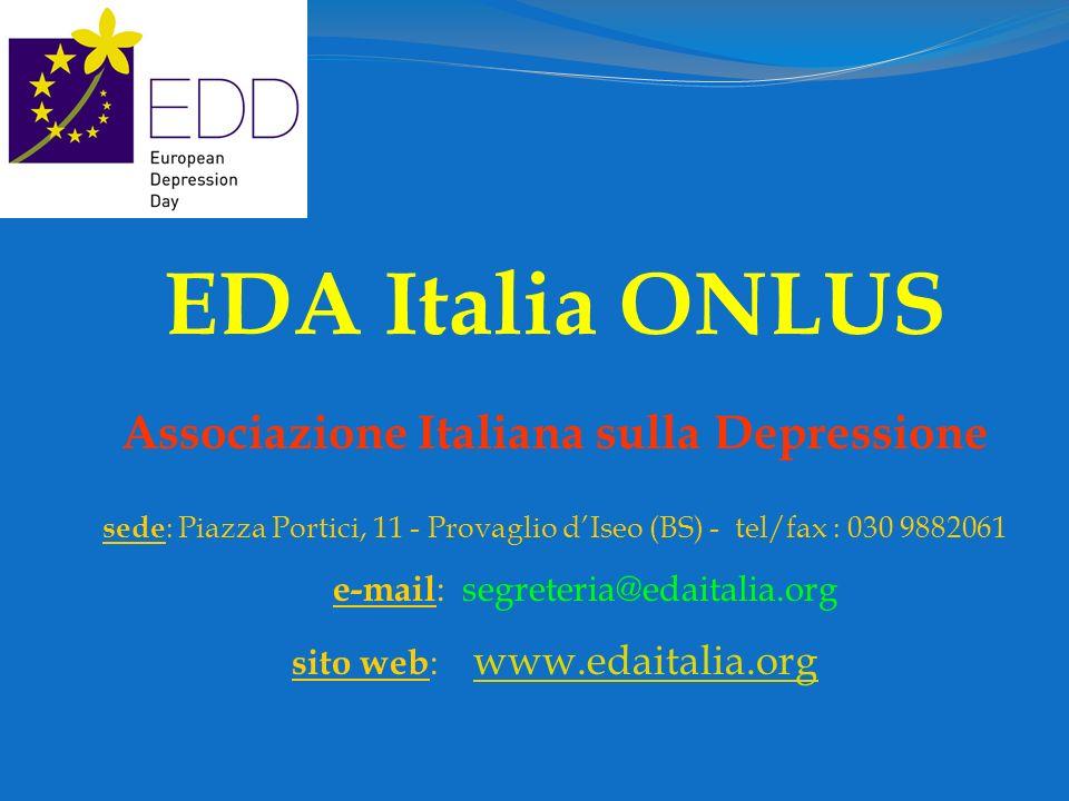 EDA Italia ONLUS Associazione Italiana sulla Depressione
