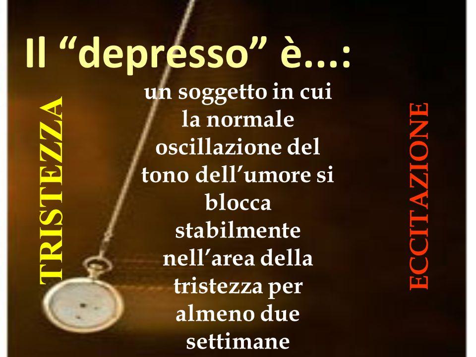 Il depresso è...: TRISTEZZA ECCITAZIONE